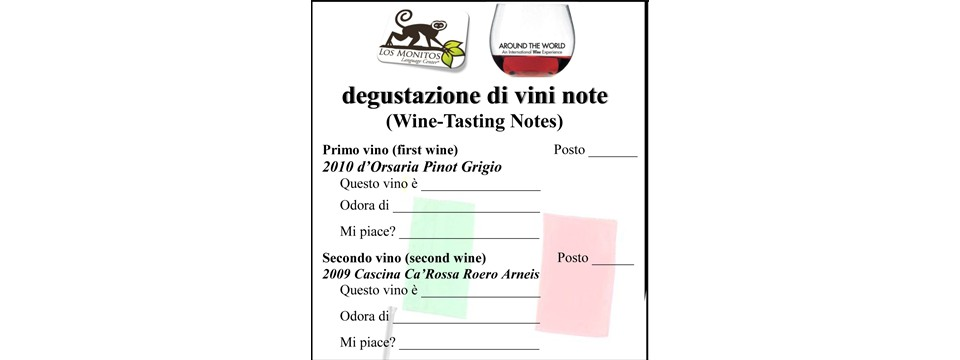 Wine Tasting Notes - in Italian
